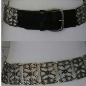 WCM NEW YORK leather and Metal Belt